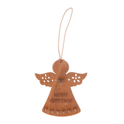Merry Christmas Wooden Angel