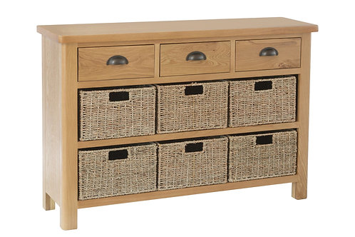 Rainton 3 Drawer 3 Basket Unit