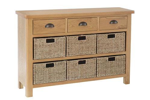 Rainton 3 Drawer 3 Basket Unit