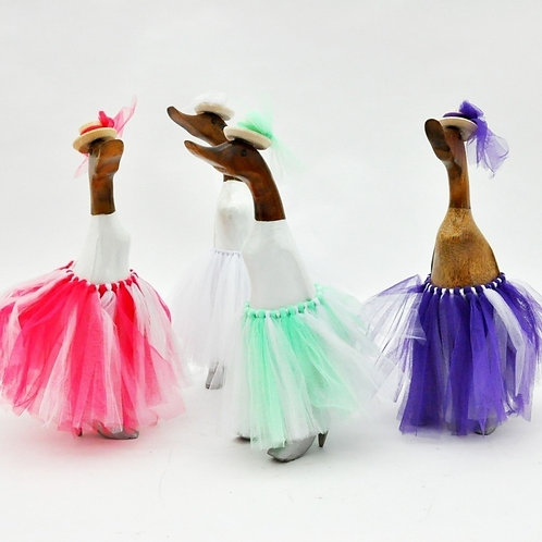 Wooden Duck with Skirt