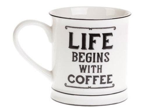 Sass and Belle Life begins with coffee Mug