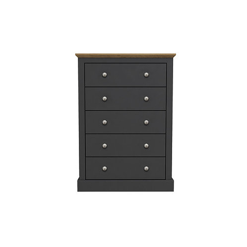 Dartmoor Charcoal 5 Drawer Chest