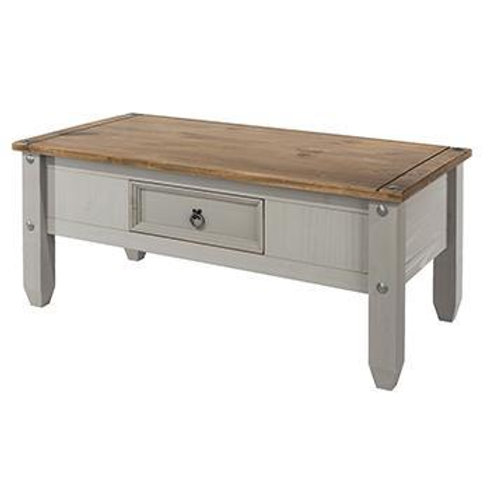 Albany Rustic Grey 1 Drawer Coffee Table