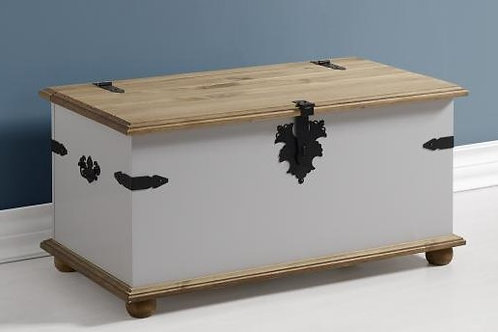 Albany Rustic Grey Blanket Box