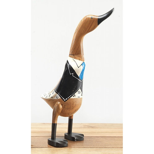 Large Wooden Uniformed Duck