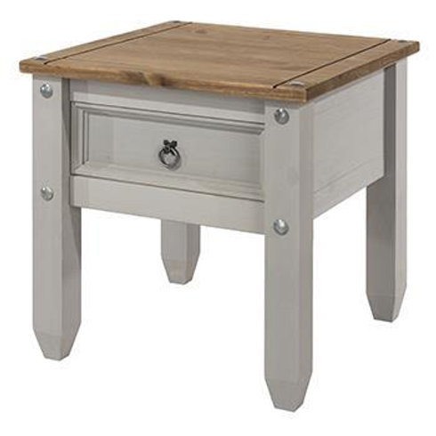 Albany Rustic Grey 1 Drawer Lamp Table