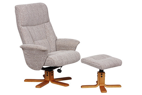 Marseille Swivel Chair and Footstool - Wheat