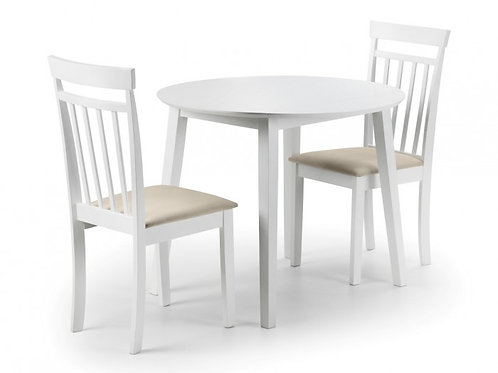 Coast White Small Dining Set