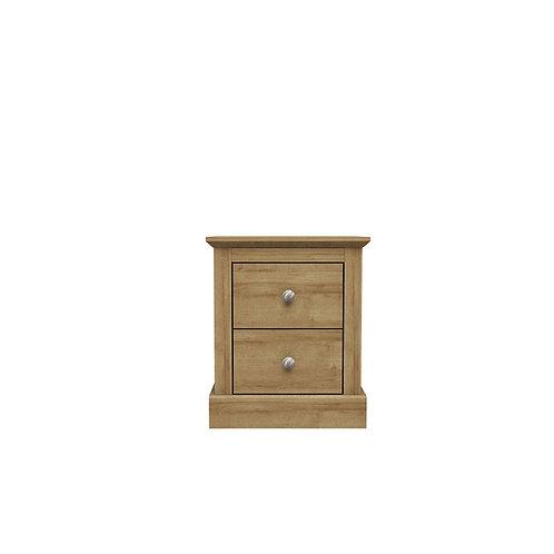 Dartmoor Oak 2 Drawer Bedside