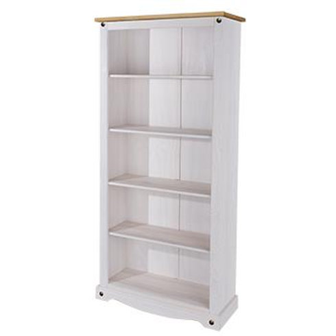 Albany Rustic White Tall Bookcase