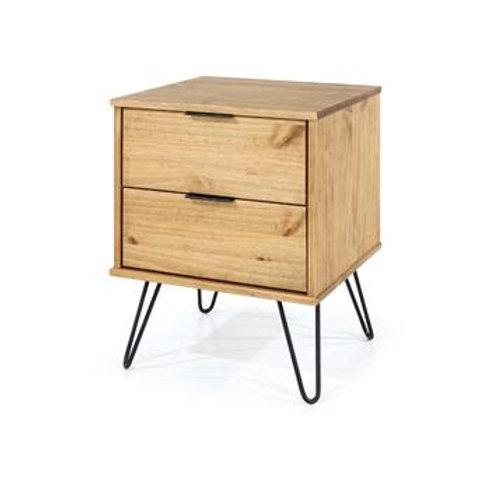 Georgia Industrial Pine 2 drawer bedside