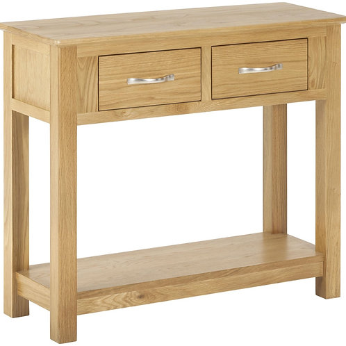 Nordic Oak Large Console Table