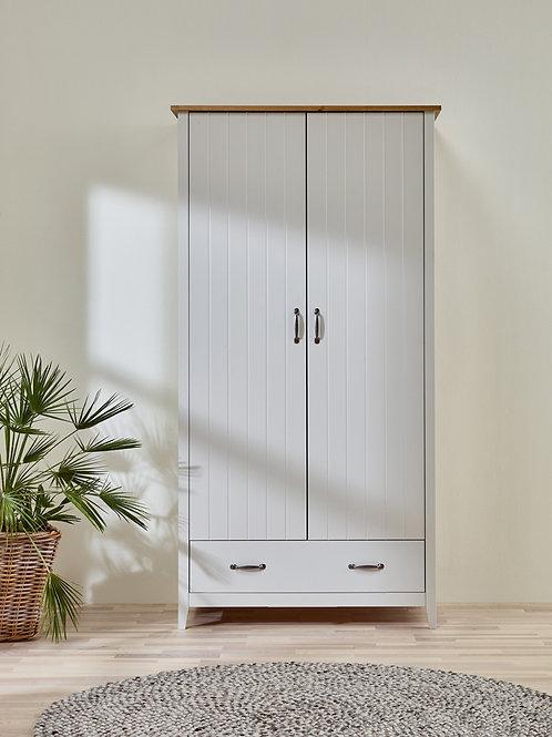 Devon Grey 2 Door 1 Drawer Robe