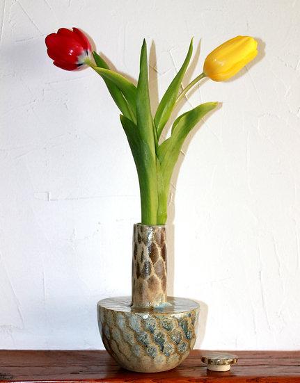 """Vase à bouchon alvéolé """"Abeille"""" - 6"""
