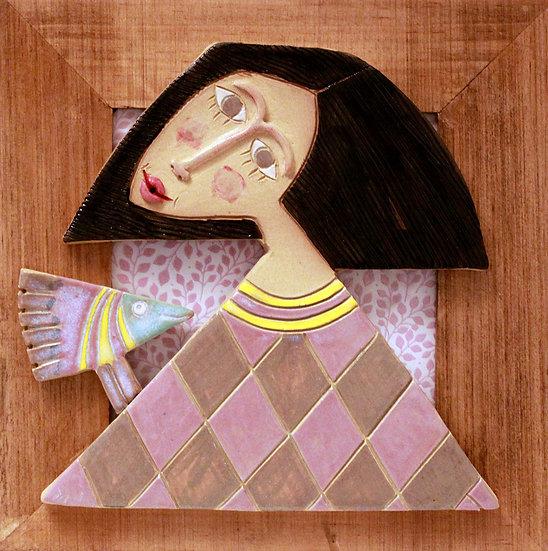 Cadre bois et céramique - 39