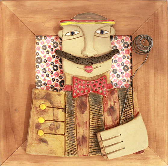 Cadre bois et céramique - 14