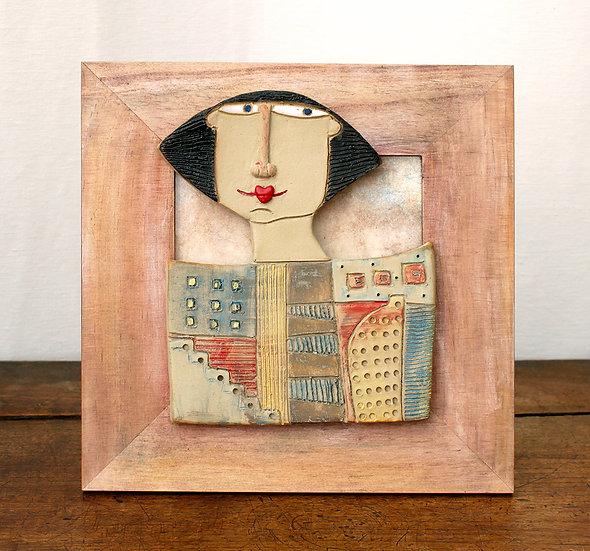 Cadre bois et céramique - 7