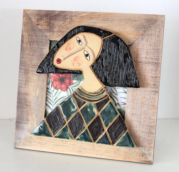 Cadre bois et céramique - 21