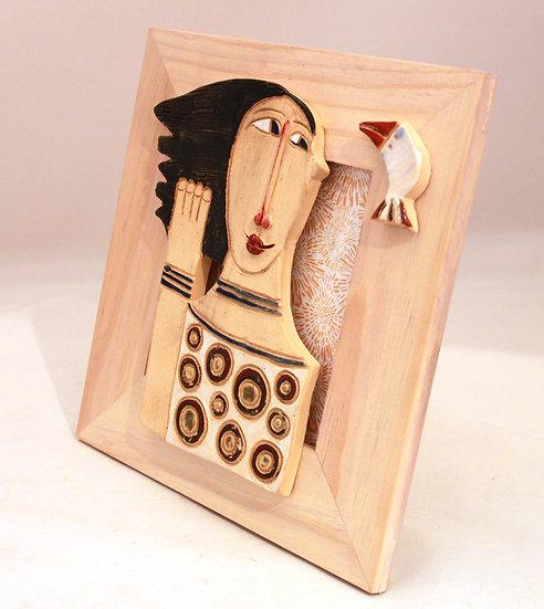 Cadre bois et céramique - 15