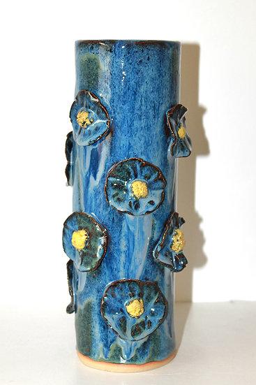 """Vase """"Fleurs bleues"""""""