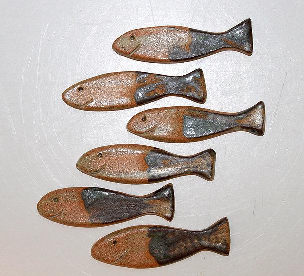 """Lot de 6 porte-couteaux sardine """"Pierre"""" - 1"""
