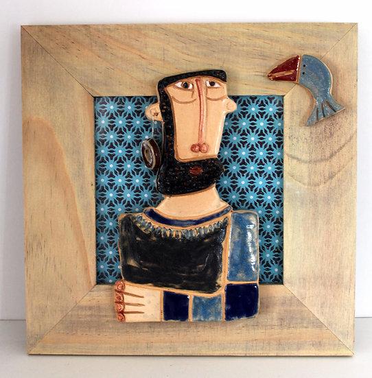 Cadre bois et céramique - 22