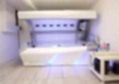 KGT Aesthetics sunbed machine in the salon