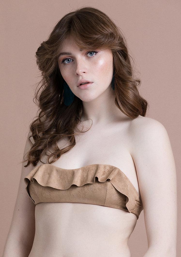 mirabilia lingerie, lingerie fine, made in france, lingerie créateur, bandeau, suédine, confortable, lingerie