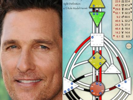 Matthew McConaughey's Human Design Chart