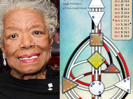 Maya Angelou's Human Design Chart