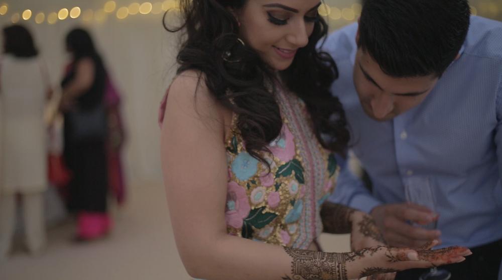 Mendhi night bride and groom