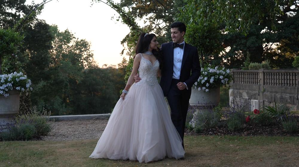 Bride and groom Oatlands Park Hotel