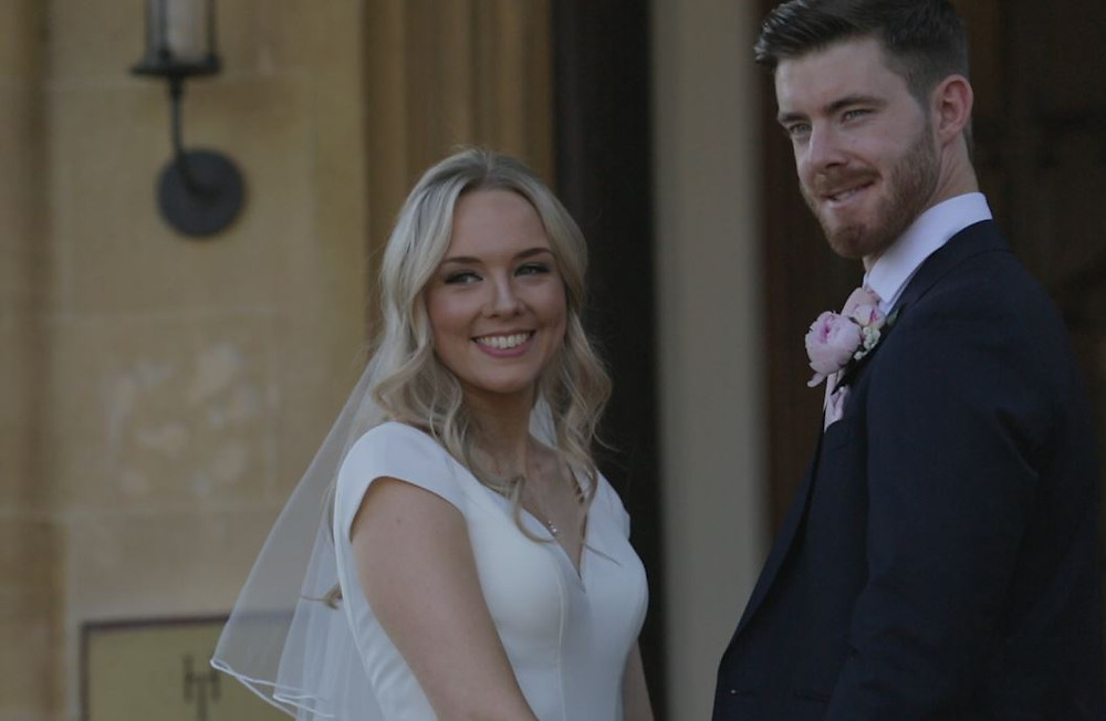 Bride and Groom at Horsley Towers