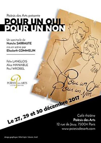 """Théâtre """"Pour un oui et pour un non"""""""