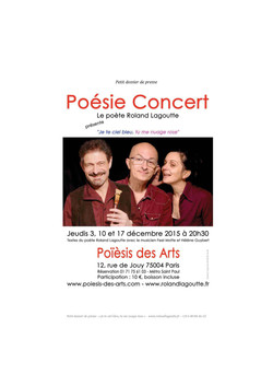 Réservez vite - Poésie Concert