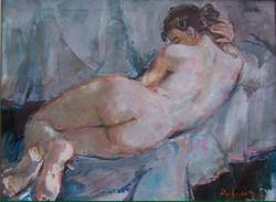Nue_allongée_du_dos,_huile_sur_toile,_81_x_60,2007