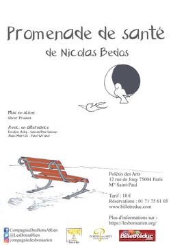 PROMENADE DE SANTE de Nicolas BEDOS