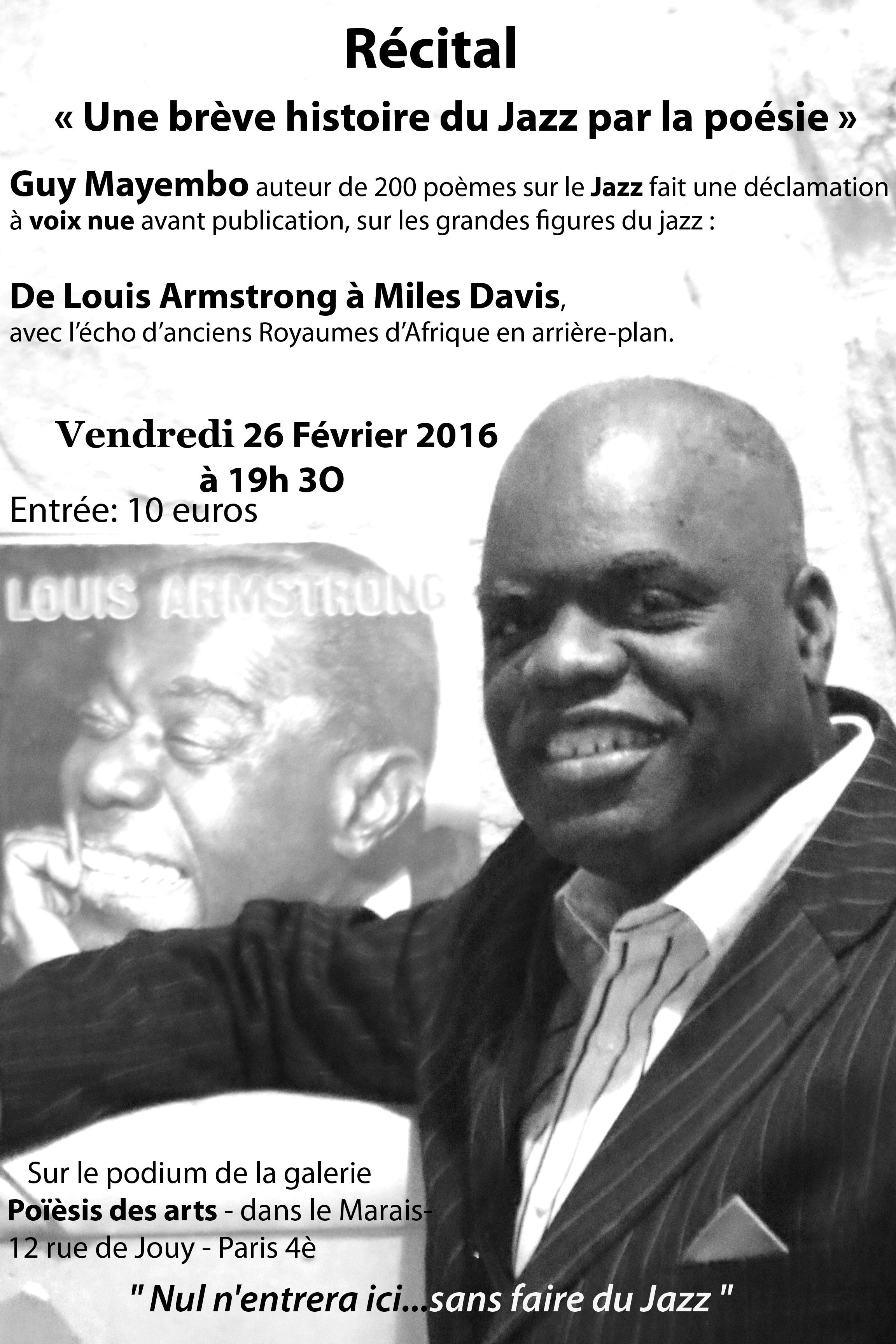 Récital « Une brève histoire du Jazz