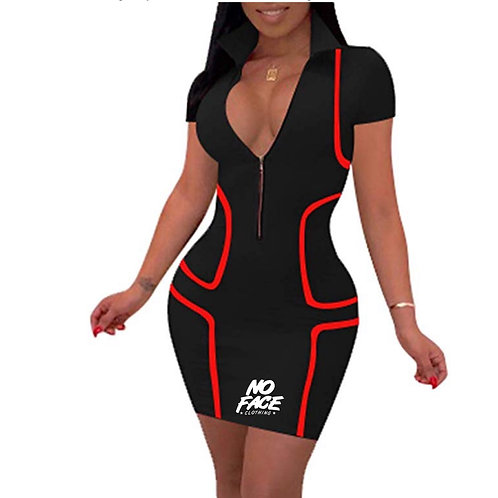 No Face BodyCon Concept Skirt