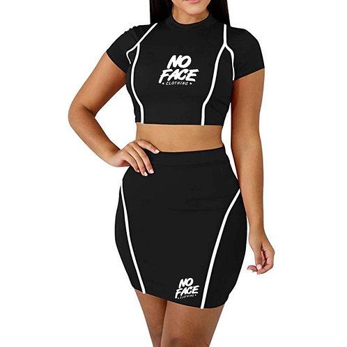 Crop Top Mini Skirt Set