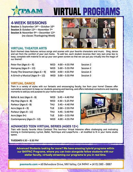 PAAM Fall 2020 Virtual Programs 10-12-20