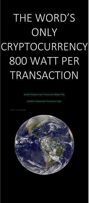 800 Watt Blockchain Transaction