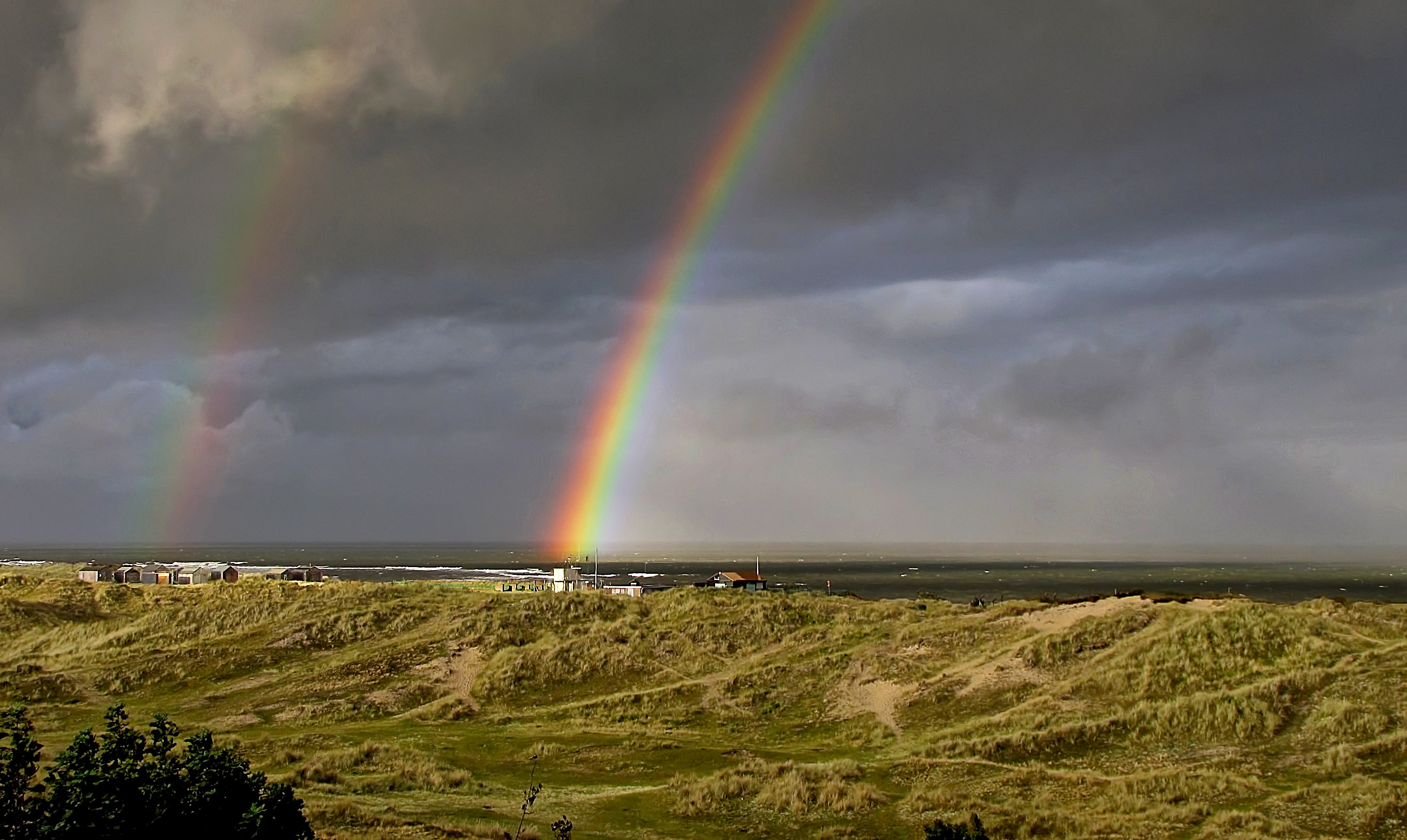 Rainbows over North east Coast