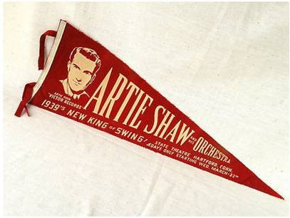 Pennant from Artie Shaw's 1939 appearance at the State Theatre in Hartford, CT