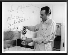 Tommy Dorsey pours coffee, with his and many band member audographs!