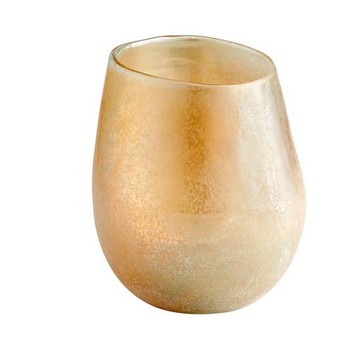 Melon Sanded Glass Vase