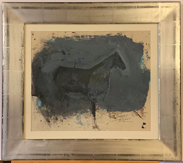 Horse, Mixed media on paper.