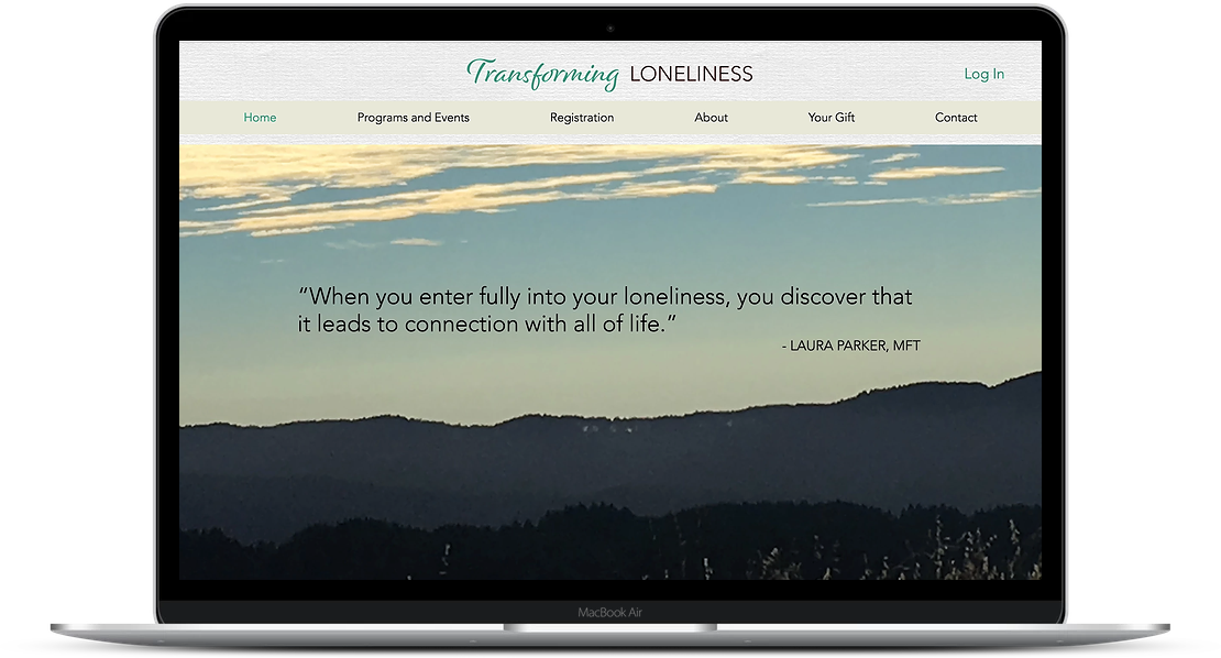 Transforming Loneliness - Wellness Website