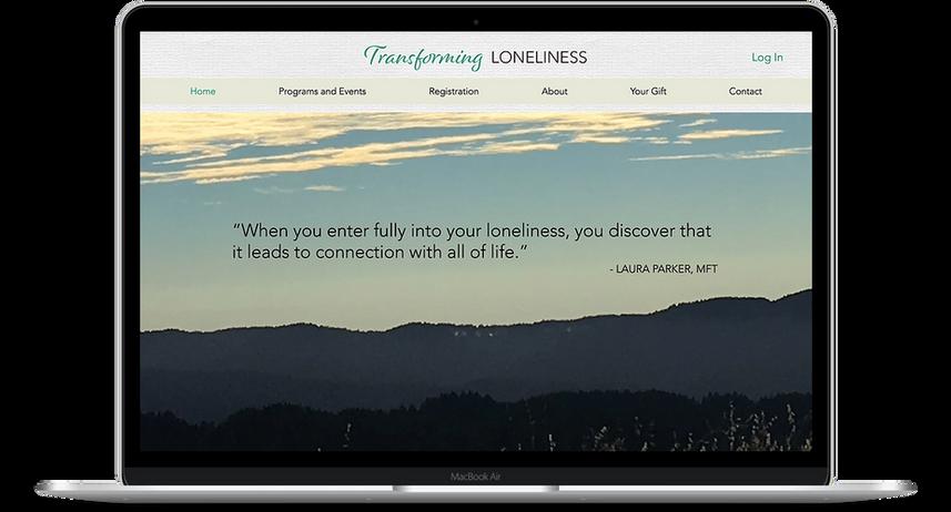 Transforming Loneliness - Wellness Website