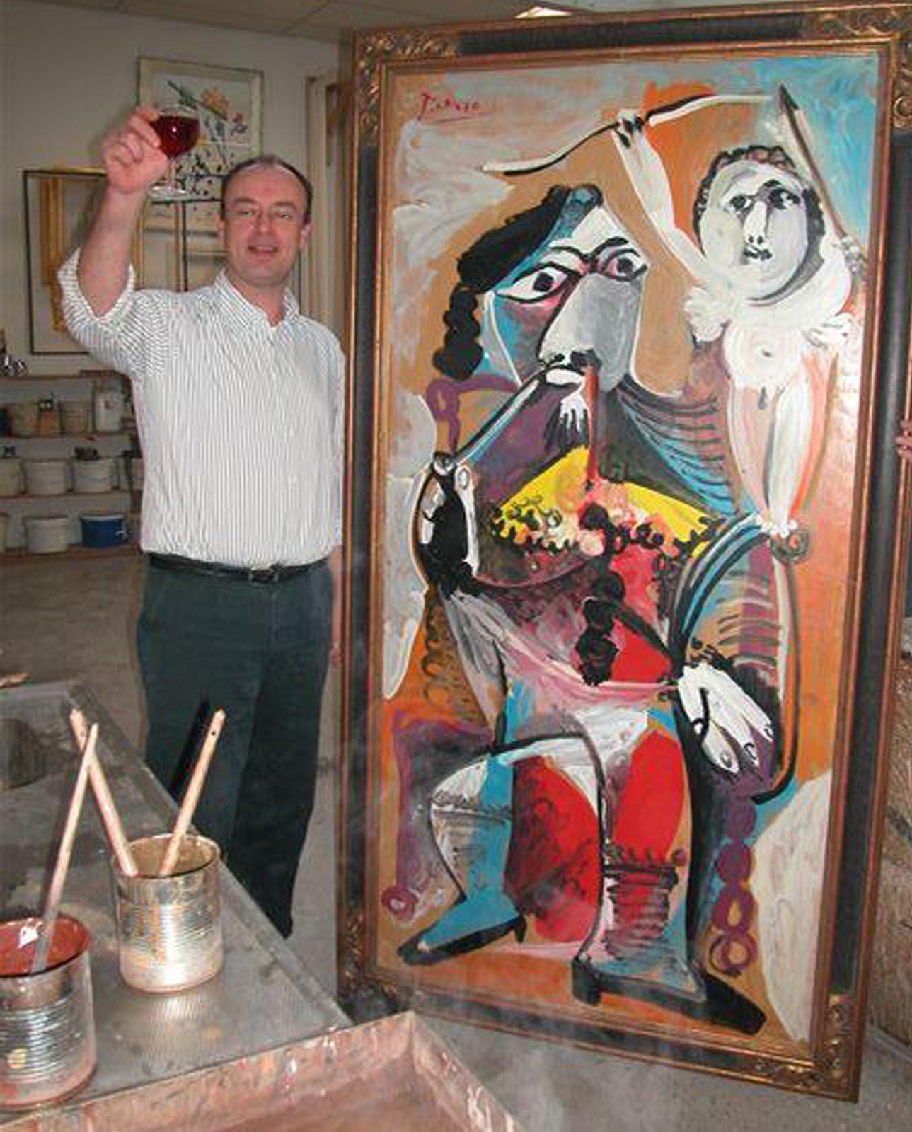 Peter with Picasso